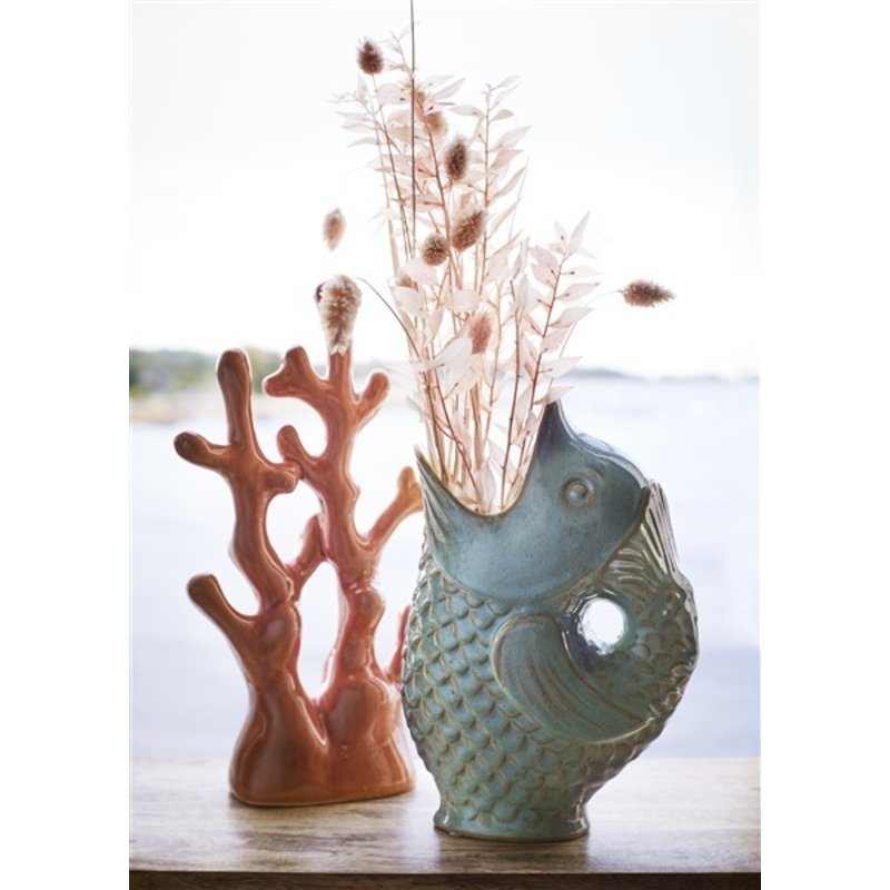 Madam Stoltz-collectie Keramiek Vis vaas lichtgroen