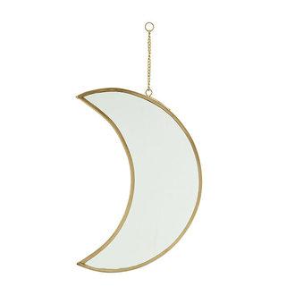 Madam Stoltz Hanging moon mirror