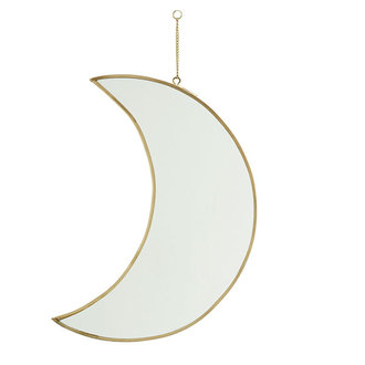 Madam Stoltz Hanging moon mirror