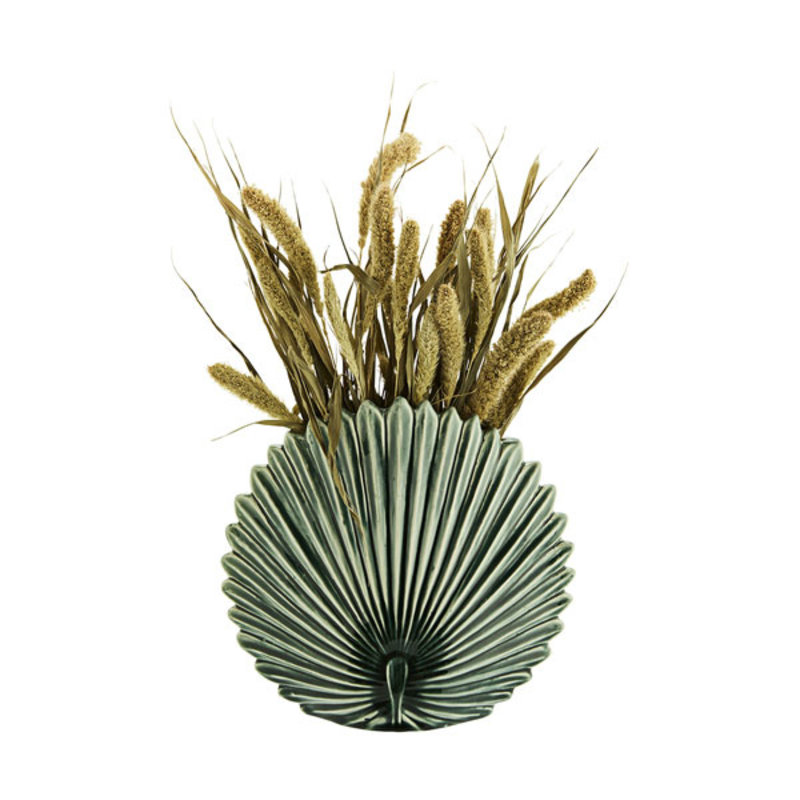 Madam Stoltz-collectie Stoneware leaf vase