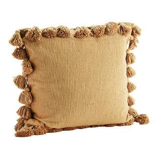 Madam Stoltz Cushion cover w/ tassels