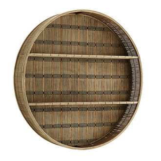Madam Stoltz Round bamboo shelf