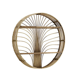Madam Stoltz Round rattan shelf