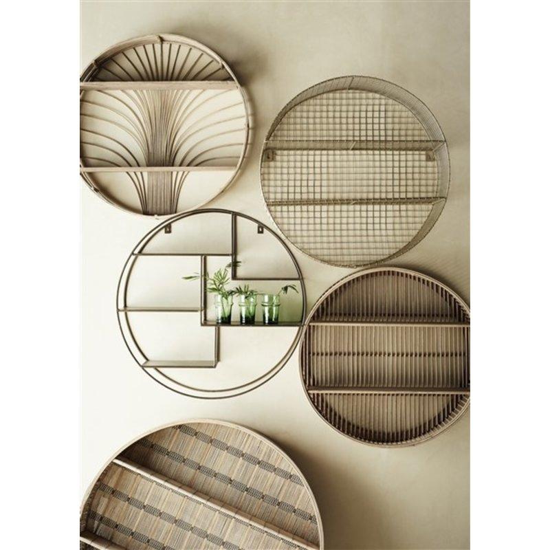 Madam Stoltz-collectie Round rattan shelf