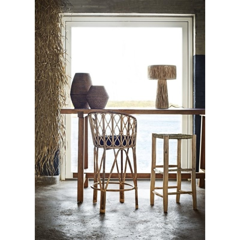 Madam Stoltz-collectie Wooden bar stool