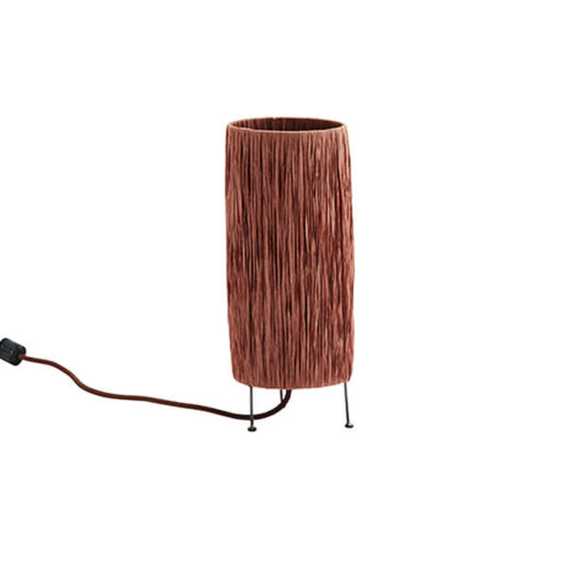 Madam Stoltz-collectie Raffia table lamp