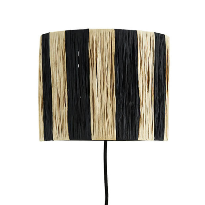 Madam Stoltz-collectie Raffia wall lamp