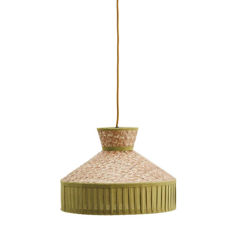 Madam Stoltz-collectie Cane ceiling lamp w/ cotton
