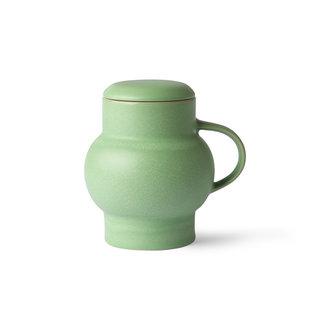 HKliving ceramic bubble tea mug L mint green