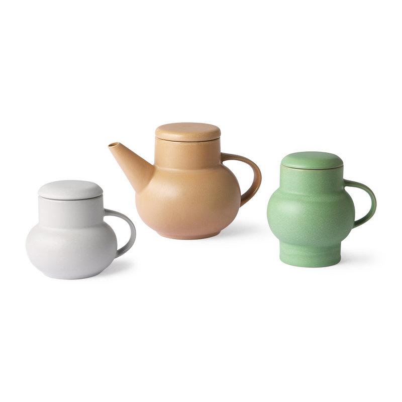 HKliving-collectie ceramic bubble tea mug L mint green