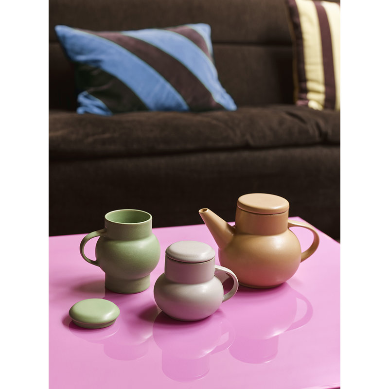 HKliving-collectie ceramic bubble tea mug M light grey