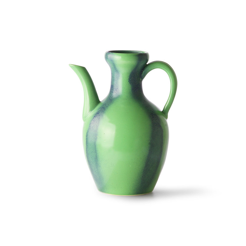 HKliving-collectie ceramic jug green/blue