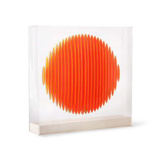 HKliving orange circle art frame