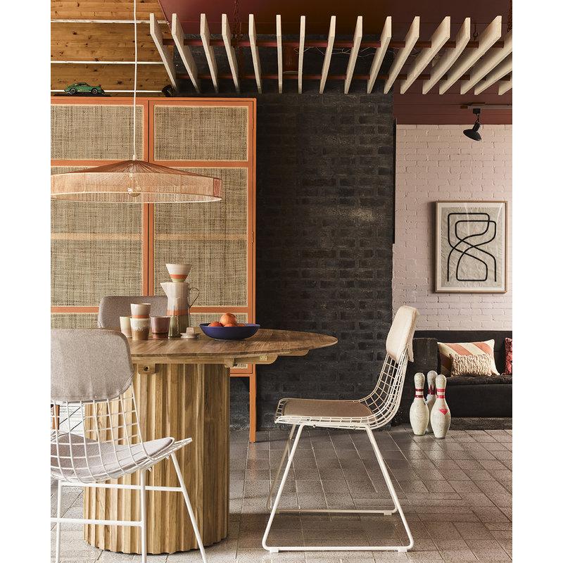 HKliving-collectie Ronde eettafel Pillar teakhout