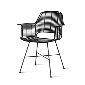 HKliving outdoor tub chair black