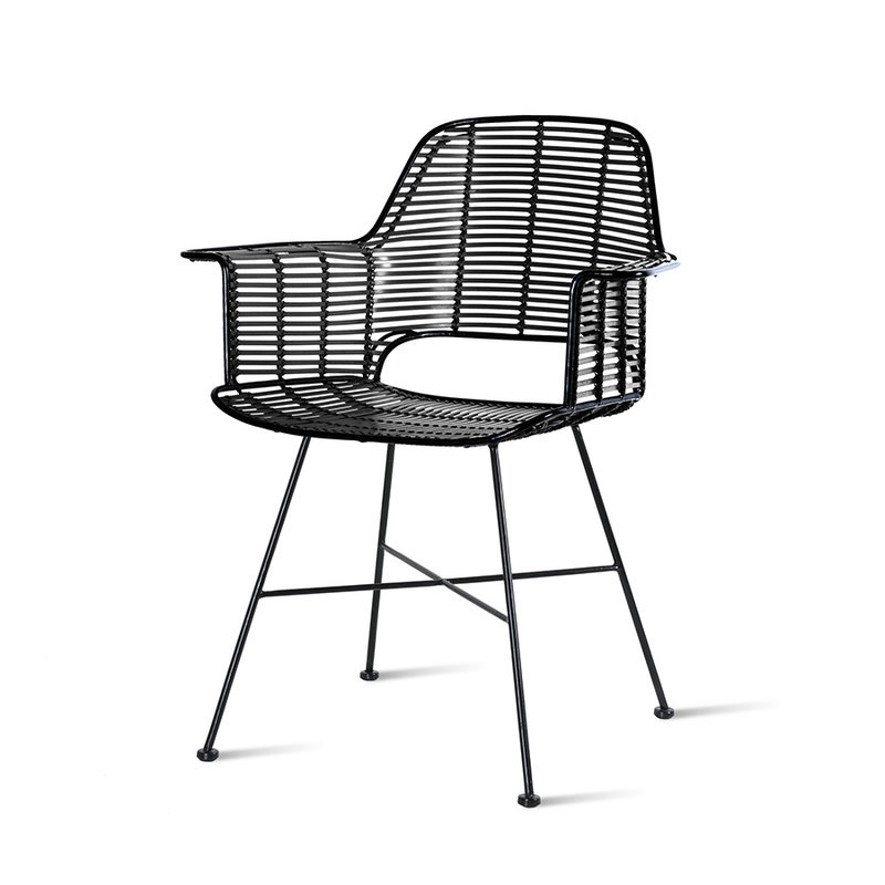 HKliving-collectie outdoor tub chair black