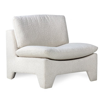 HKliving Retro lounge fauteuil boucle cream