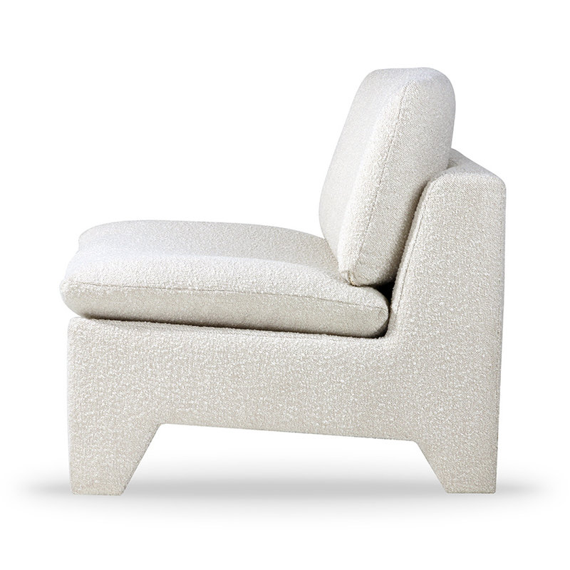 HKliving-collectie Retro lounge fauteuil boucle cream