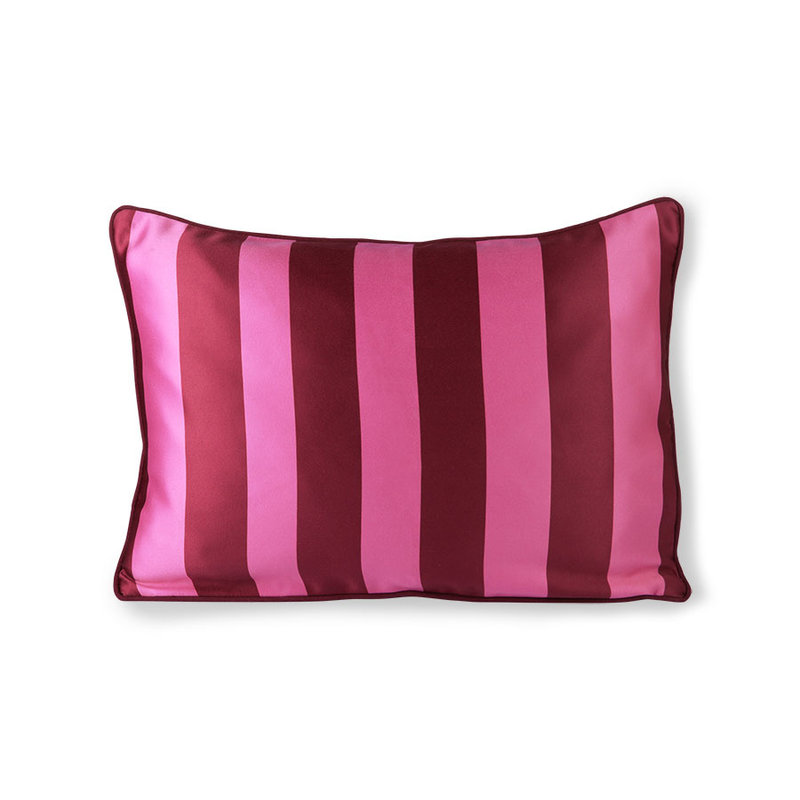 HKliving-collectie satin/velvet cushion pink/purple (35x50)