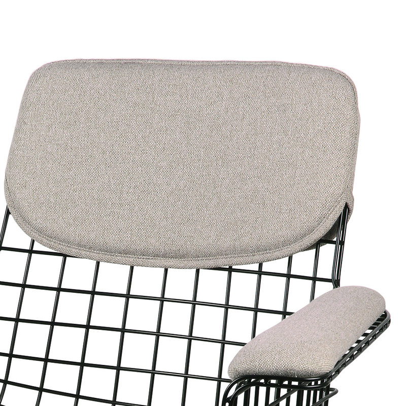 HKliving-collectie wire armchair comfort kit pebble