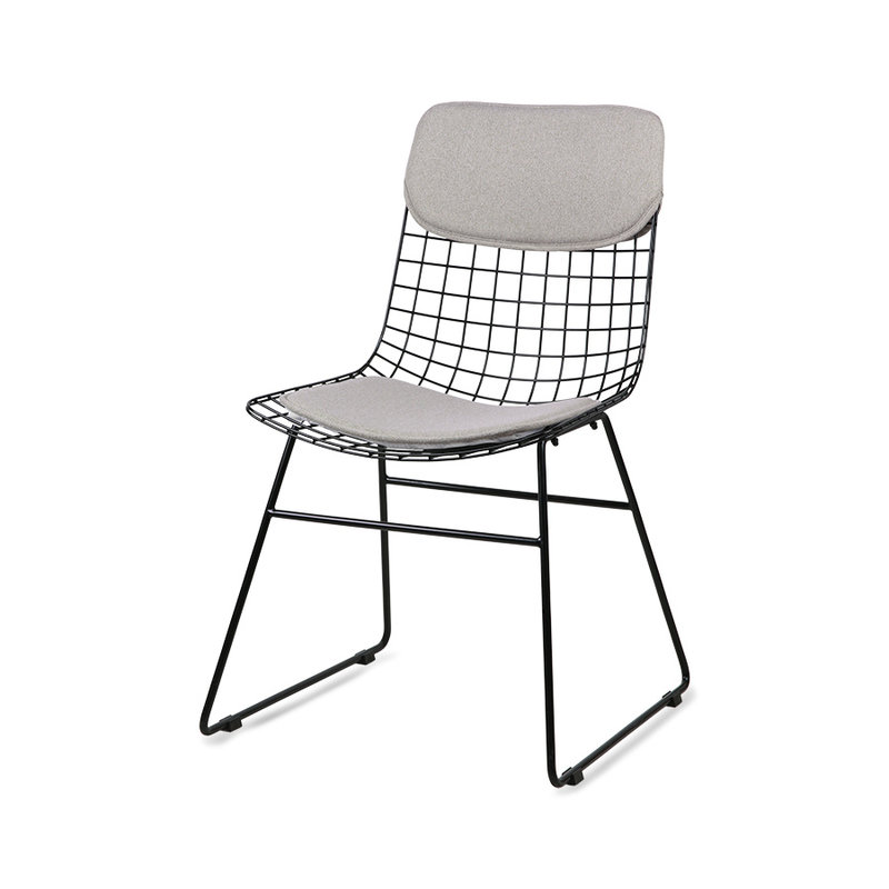 HKliving-collectie wire chair comfort kit pebble