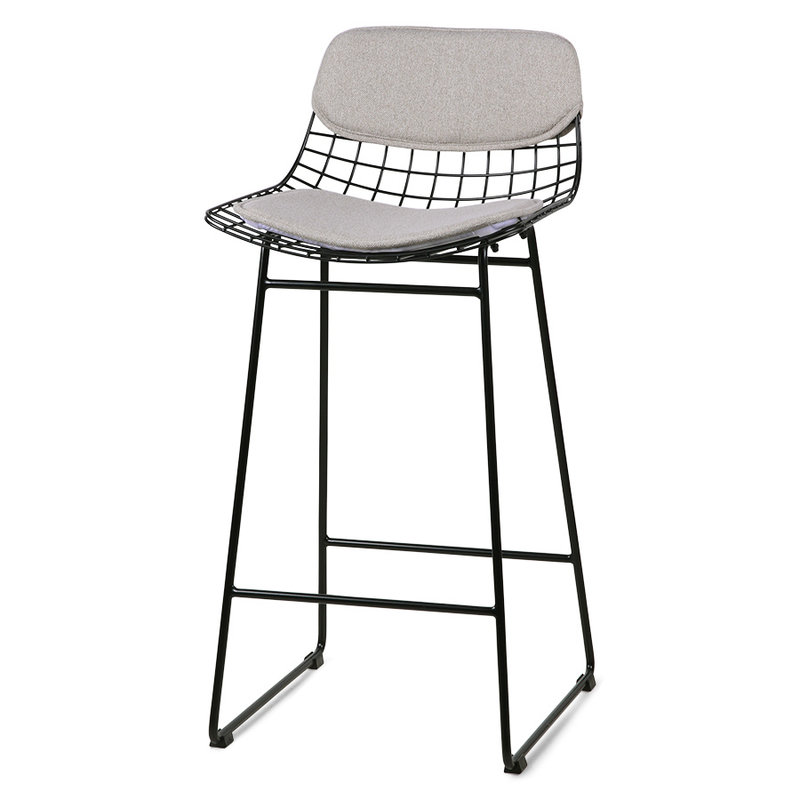 HKliving-collectie wire bar stool comfort kit pebble