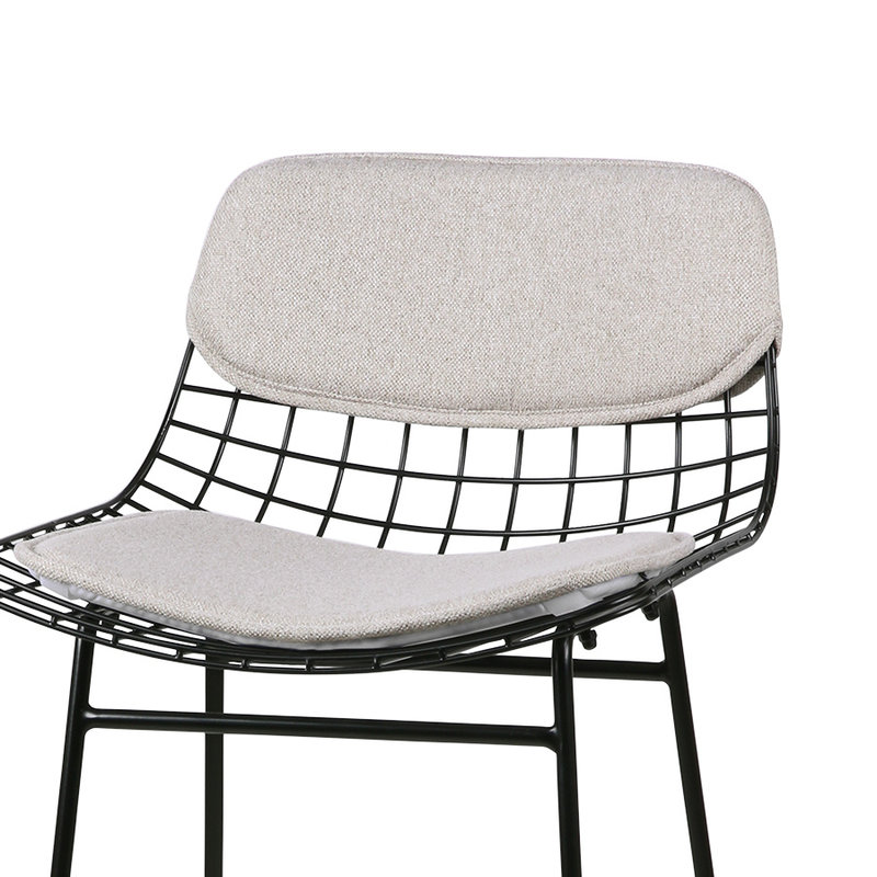 HKliving-collectie Wire barkruk comfort kit pebble