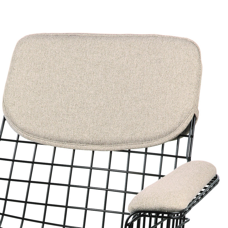 HKliving-collectie wire armchair comfort kit sand