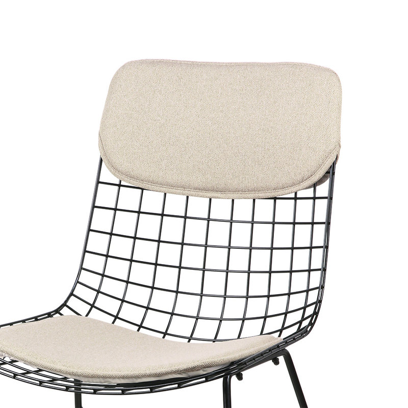 HKliving-collectie wire chair comfort kit sand