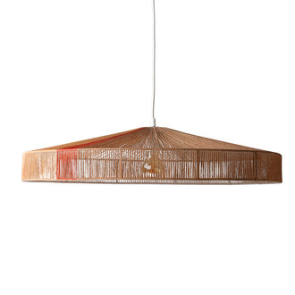 HKliving pendant rope lamp terra shades