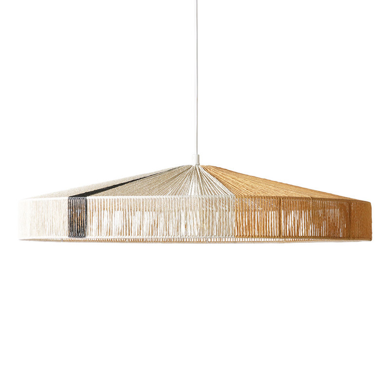 HKliving-collectie pendant rope lamp black stroke