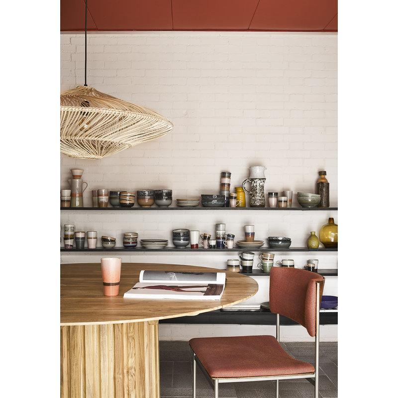 HKliving-collectie Ovale hanglamp naturel gevlochten riet