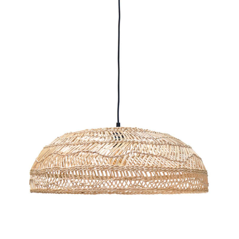 HKliving-collectie wicker hanging lamp flat natural (60x60x20)