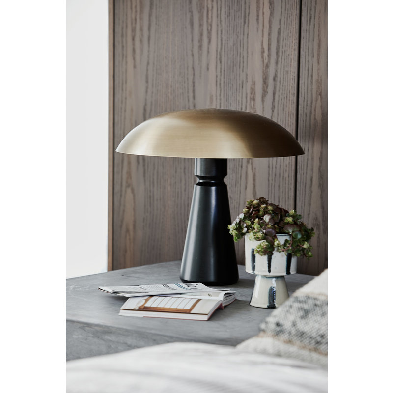House Doctor-collectie Table lamp Thane, Black/Brass