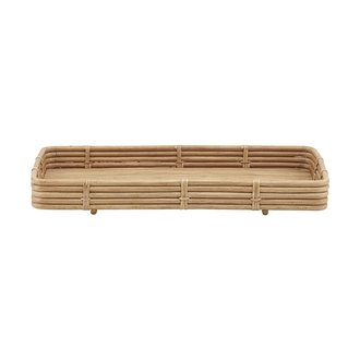 House Doctor Dienblad Orga naturel rattan