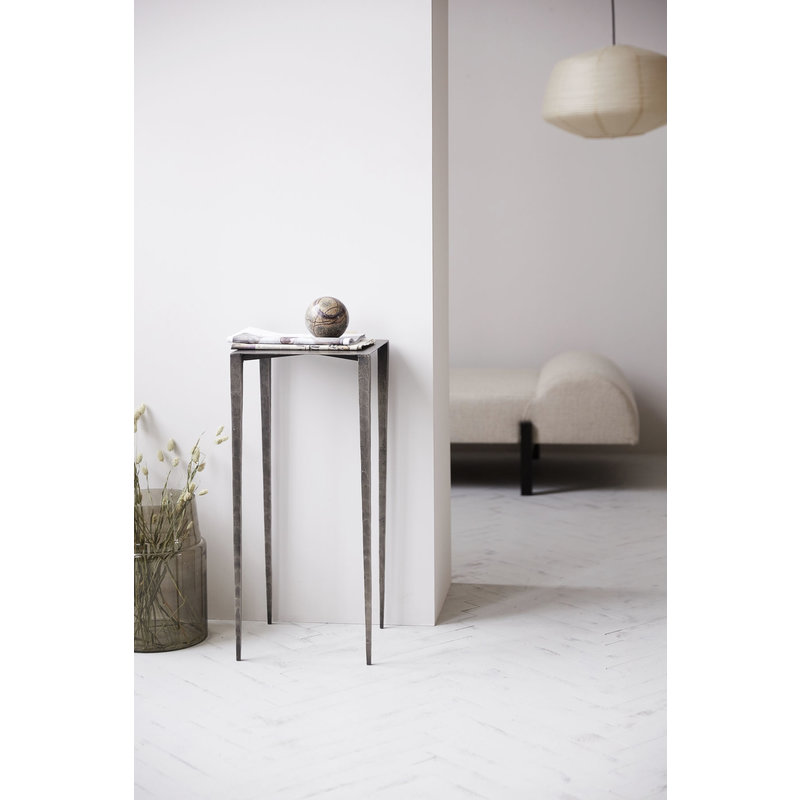 House Doctor-collectie Side table Ranchi, Nickel