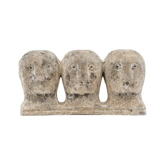 House Doctor Art piece Ancient head, Grey/Brown