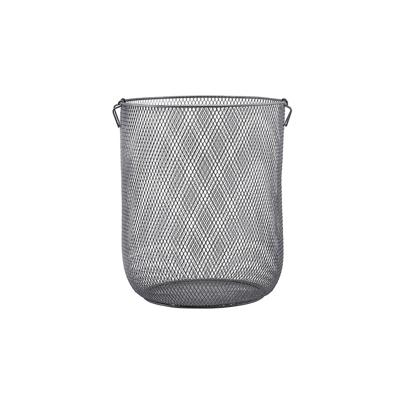 House Doctor-collectie Storage Jaipur, Laundry, Grey, H: 54 cm, Dia: 46 cm