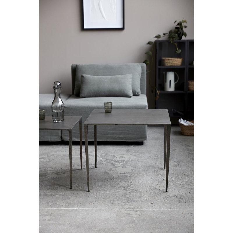 House Doctor-collectie Bijzettafel Ranchi nikkel 50x50x45 cm