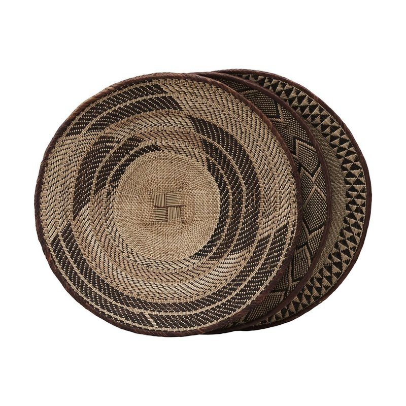 House Doctor-collectie Basket Tonga, Assorted, Size and pattern will vary, Dia: 58 cm