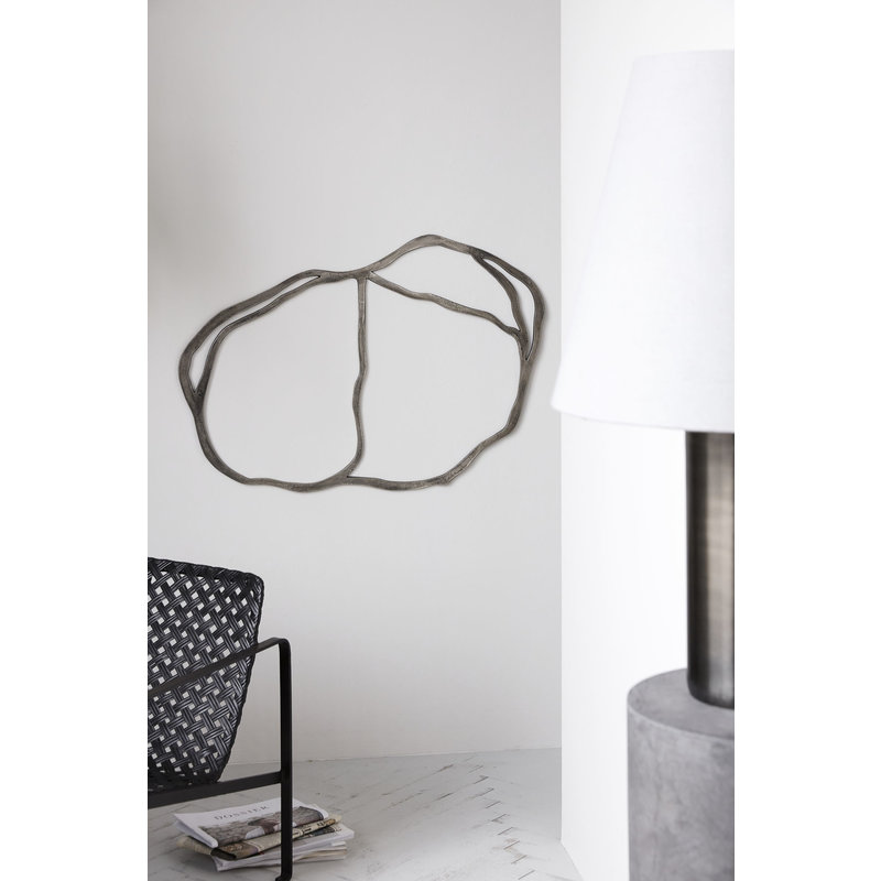 House Doctor-collectie Wall art Ouilan, Metal oxidized