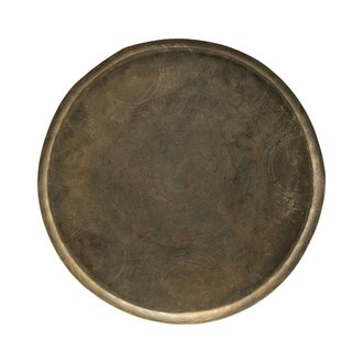House Doctor Tray Jhansi, Antique brass finish