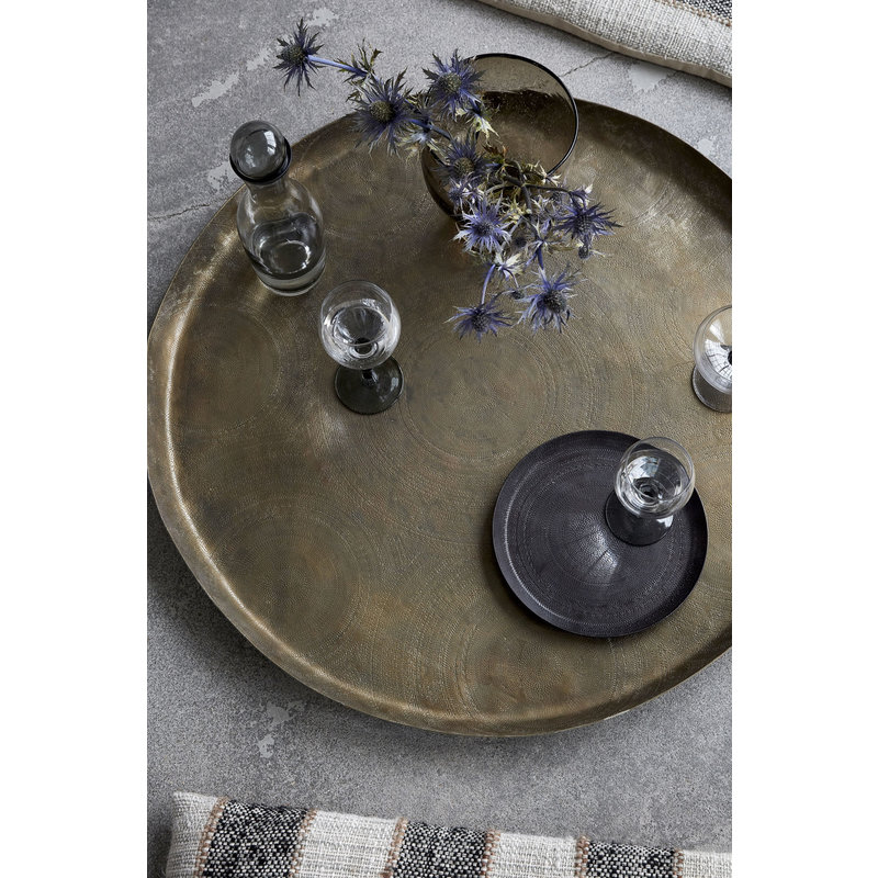 House Doctor-collectie Tray Jhansi, Antique brass finish