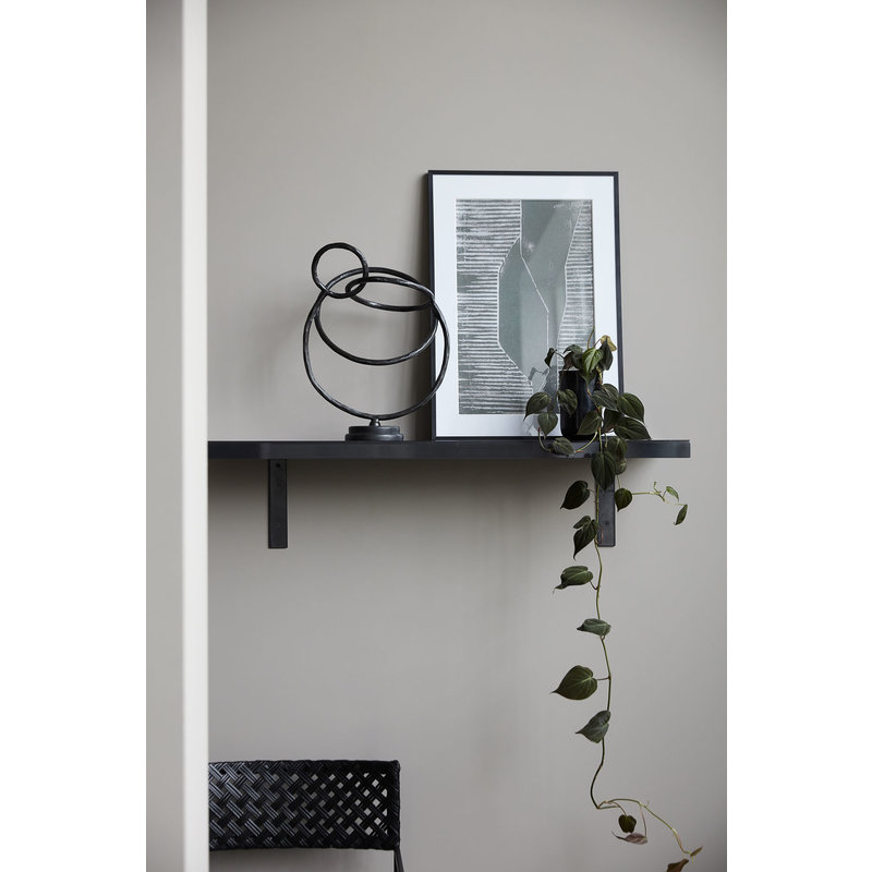 House Doctor-collectie Shelf Raw, Black