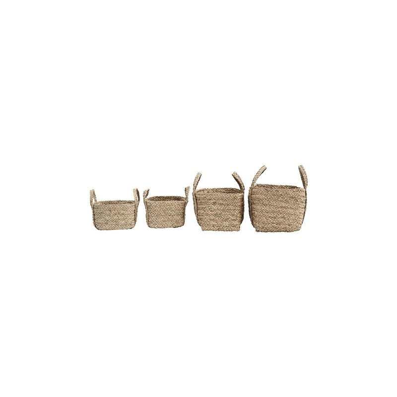 House Doctor-collectie Baskets Sikar, Natural, Set of 4 pcs, 55x30x27 cm, 50x25x25 cm, 25x25x18 cm en 25x25x18 cm