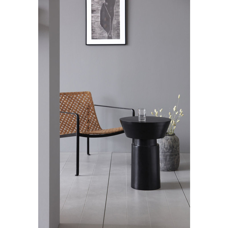 House Doctor-collectie Side table Nanded, Black antique
