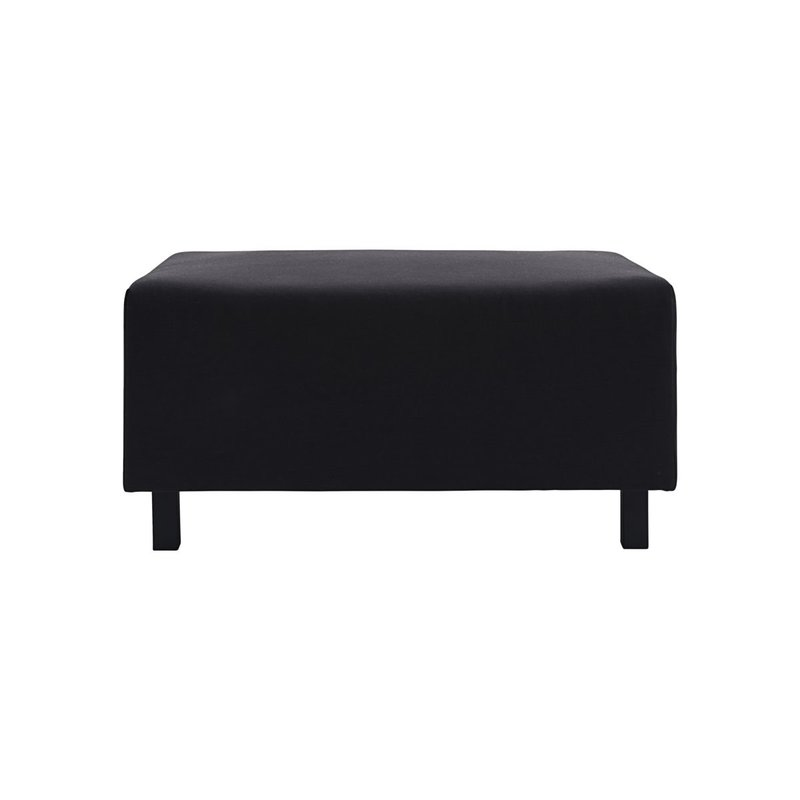 House Doctor-collectie Pouf Base, Black