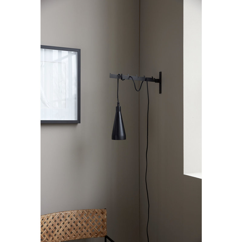 House Doctor-collectie Lamp, Jammu, Black, E14, 3 m black fabric cable