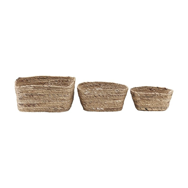 House Doctor-collectie Basket, Nangloi, Natural, Set of 3 sizes