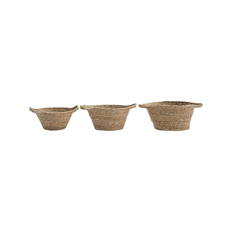 House Doctor-collectie Basket, Jat, Natural, Set of 3 sizes